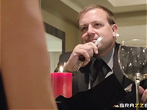 The hubby of Brandi enjoy lets her boink a different stud