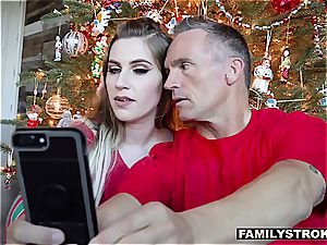 Niki Snow gets a tearing up for Christmas from her parent