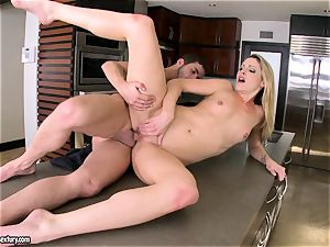 Samantha Ryan feels the warmth of her lover's jizm cascading on her slits