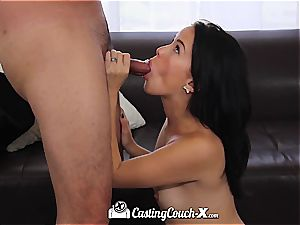 youthfull Megan deep-throats and bangs the casting agent