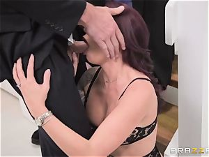 discreet spouse observes his wife Monique Alexander get butt-banged