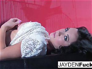 Jayden Jaymes Gets insane Against a red Wall