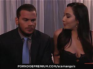 SCAM ANGELS - Kat Dior and Morgan Lee super hot 3 way