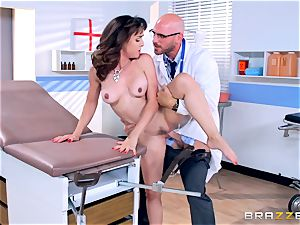 Cytherea is left spraying as she visits the physician