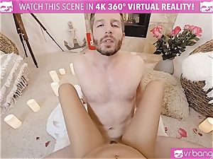 VR porn - Thanksgiving Dinner becomes horny tearing up