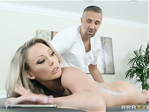 Isabelle Deltore feasting on a humungous prick