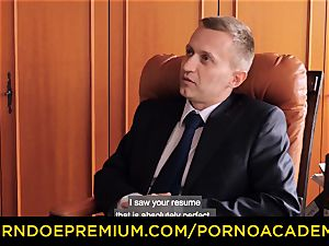 porn ACADEMIE - sexy instructor dp and horny buttfuck penetrate