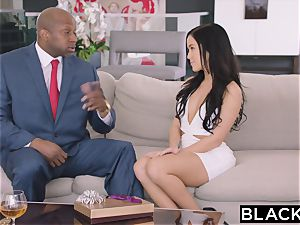 BLACKED super hot Megan Rain Gets DP'd By Her Sugar father and His friend