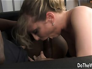 Lya rosy interracial and facial cumshot in front of hubby