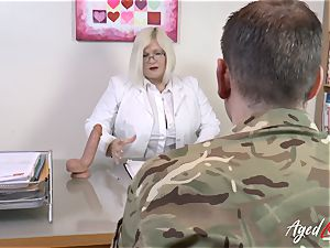 AgedLovE Lacey Starr fuckin' firm with Soldier
