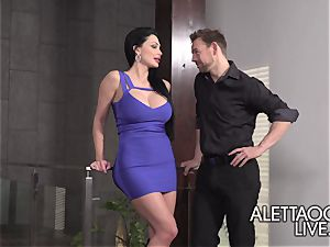 three-way with Aletta Ocean