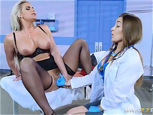 crazy patient Phoenix Marie girl/girl shag with Dani Daniels