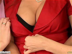 Francesca gets comforted by her milf buddies