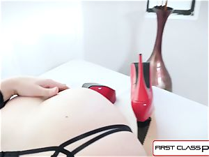 FirstClassPOV - stunning Chanel Preston suck a ample man sausage