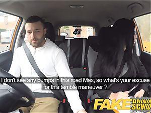faux Driving school Jasmine Jae entirely naked hookup in car