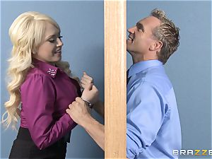 light-haired secretary Kagney Linn Karter pounding her ultra-kinky fucking partner