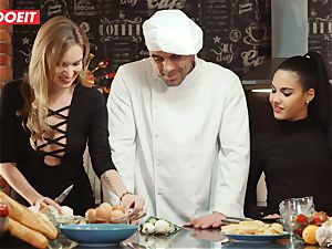LETSDOEIT - intercourse Cooking With honies Apolonia and Angel
