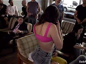 steaming booty european mega-slut public poked