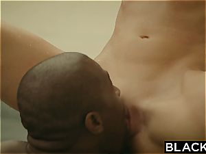 first interracial for horny Ally Tate