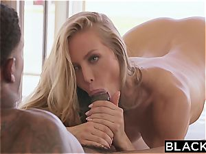incredible Nicole Aniston gets romped by a ample black sausage