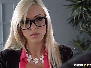 super-fucking-hot chief Nina Elle seduces her employee