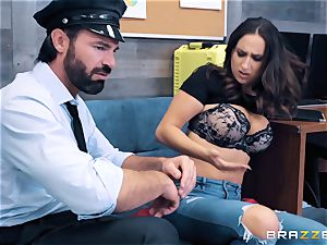 Ashley Adams takes on cop jizz-shotgun