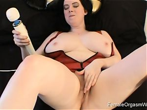 yam-sized breasted babe Solo fun and masturbation