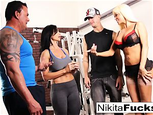 Nikita Von James joins a exercise hook-up