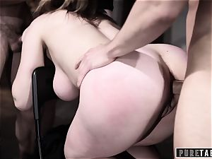 pure TABOO Lena Paul's first Airtight dp gang-fuck