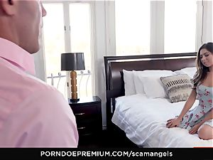 SCAM ANGELS - Gina Valentina group fuck-fest with scorching honeys