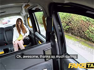 fake taxi super-naughty redhead hottie in dirty pound