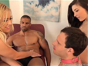 Summer Day Makes husband clean cum Off Her super-fucking-hot assets