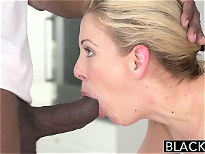 BLACKED hot Southern ash-blonde Takes meaty black rod