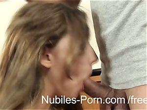 Nubiles pornography - rigid poke makes Czech amateur squirt