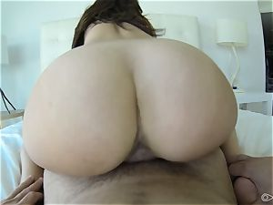 lovely Dillion Harper ruts around on a yam-sized spunk-pump