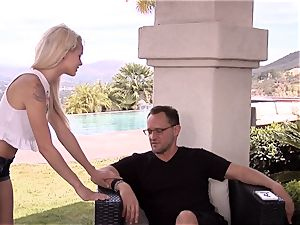 super sugary-sweet Elsa Jean takes no time accepting this immense hard-on