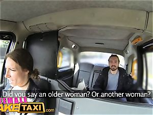 dame faux cab jaw-dropping driver gets some student penis