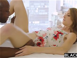 BLACKED mischievous blonde Grad schoolgirl penetrates Married big black cock