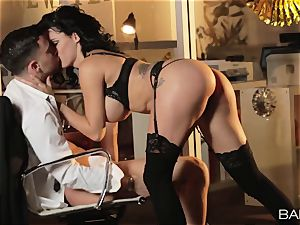 super hot office beauty Peta Jensen has orgy with her workers after work