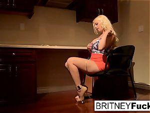 Britney tempts a humungous fuckpole