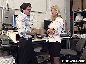 SheWillCheat - huge-boobed cougar chief pounds new employee