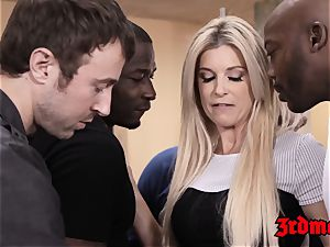 tutor India Summer fed jizm after IR gang-bang