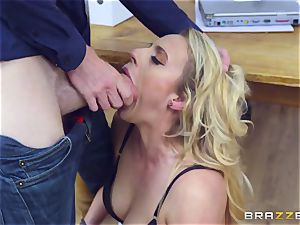 Mature Dean Brittany Bardot gets punished by her schoolgirl