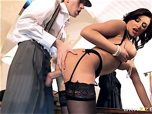 mischievous women Anna Polina inhales and screws a ample shaft