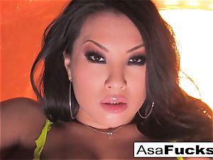 Asa Akira displays Off Her amazing assets
