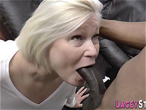 granny eats ebony cumbot