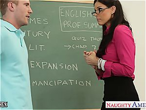 little breasted professor India Summer nail her nubile student