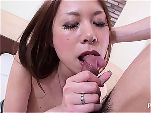 Jap babe with immense cupcakes seduced