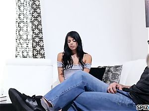 Spizoo - Gina Valentina taking her step father's manmeat