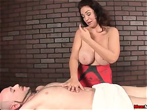 marvelous dark haired gets incredible massage